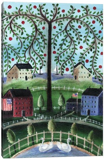 American Salt Box Village Canvas Art Print