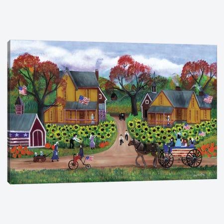 American Sunflower Farm Celebration Canvas Print #CBT28} by Cheryl Bartley Canvas Wall Art