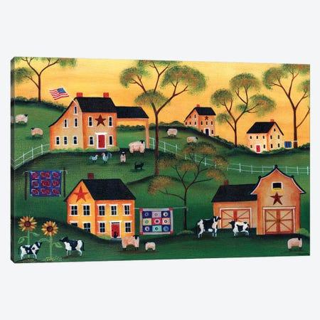American Sunshine Country Farm Canvas Print #CBT29} by Cheryl Bartley Canvas Wall Art