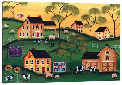 American Sunshine Country Farm Canvas Art Print