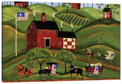 4th Of July Country Parade Canvas Art Print