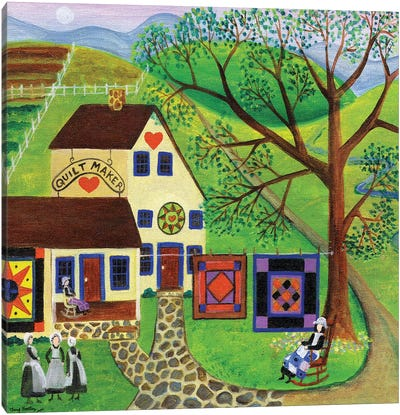 Amish Country Quilt Makers Canvas Art Print