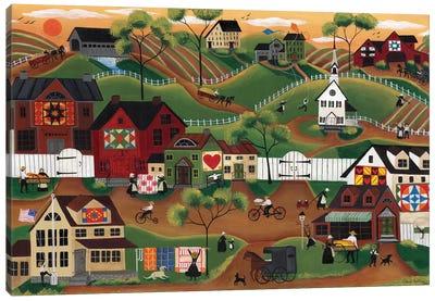 Amish Quilt Village Canvas Art Print