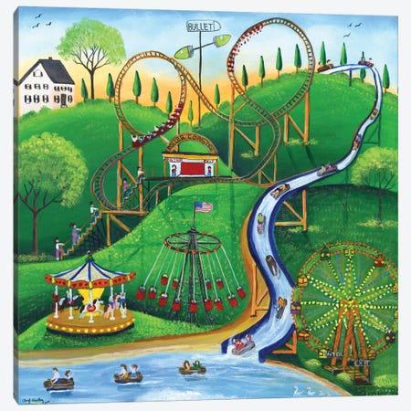 Amusement Park Rides Canvas Print #CBT37} by Cheryl Bartley Canvas Artwork