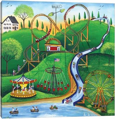 Amusement Park Rides Canvas Art Print
