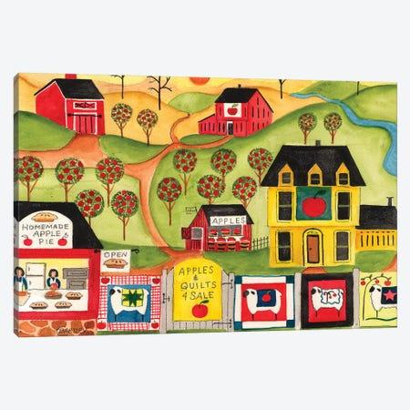 Apples Quilts 4 Sale Canvas Print #CBT39} by Cheryl Bartley Canvas Art Print