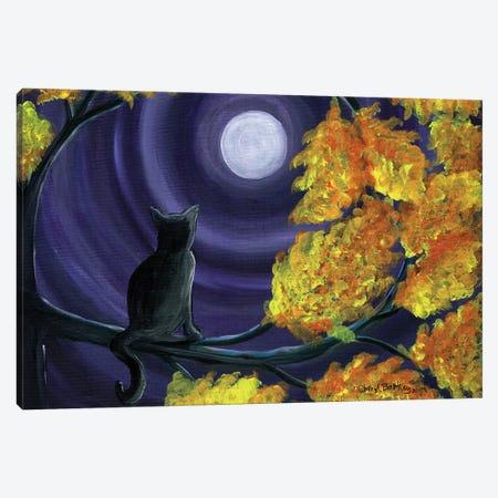Autumn Black Cat Canvas Print #CBT40} by Cheryl Bartley Canvas Art