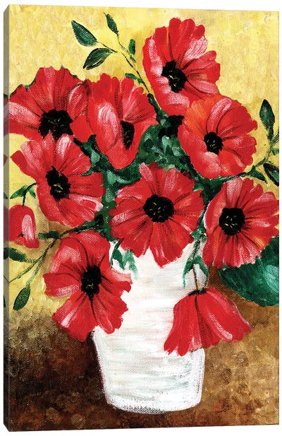 Big Red Poppies Canvas Art Print
