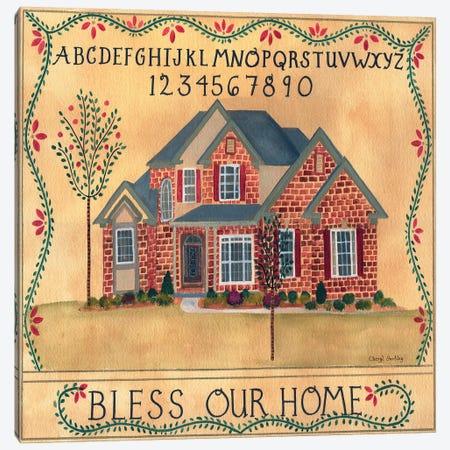 Brick House Blessing 3-Piece Canvas #CBT49} by Cheryl Bartley Canvas Artwork