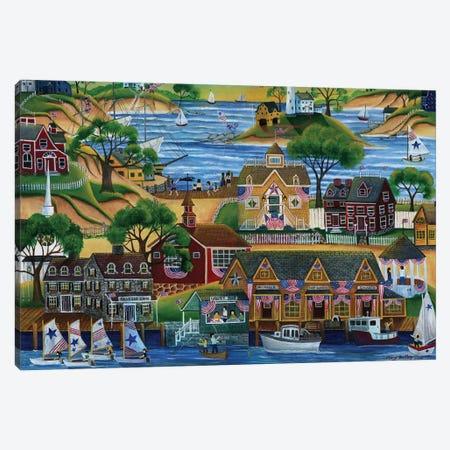 4th Of July Seaside Celebration Canvas Print #CBT4} by Cheryl Bartley Art Print