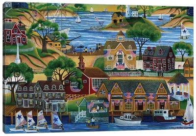 4th Of July Seaside Celebration Canvas Art Print