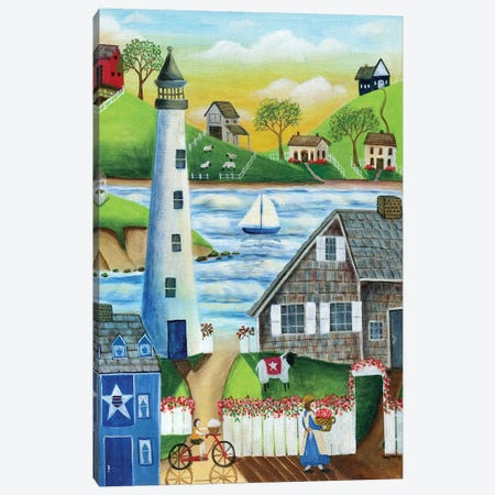 By The Sea 3-Piece Canvas #CBT51} by Cheryl Bartley Canvas Art Print