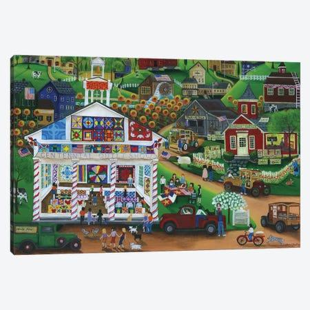 Centennial Quilt Show Canvas Print #CBT57} by Cheryl Bartley Canvas Wall Art
