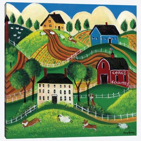Corgi Country Canvas Print #CBT62} by Cheryl Bartley Canvas Art