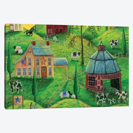 Country Farms Canvas Print #CBT67} by Cheryl Bartley Canvas Art Print