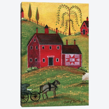 Country Homestead Canvas Print #CBT74} by Cheryl Bartley Canvas Art