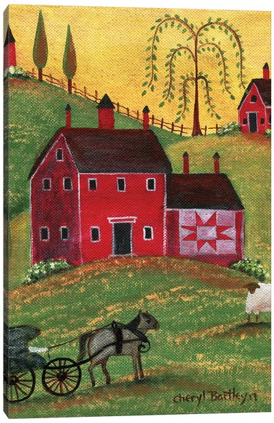 Country Homestead Canvas Art Print