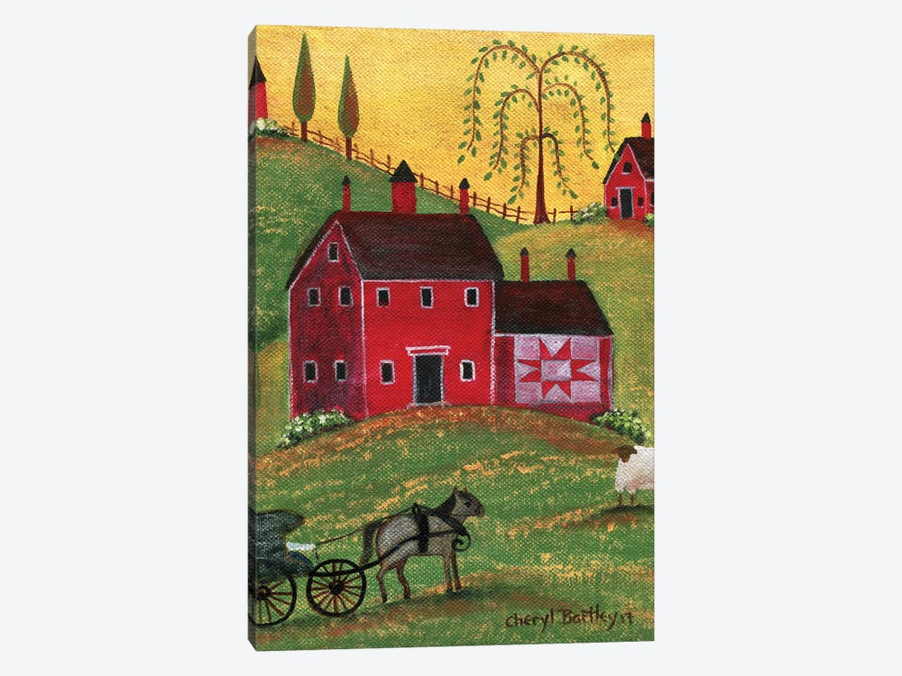 Country Homestead by Cheryl Bartley 1-piece Canvas Artwork