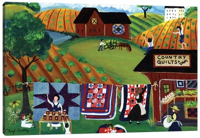Country Quilts Jam Canvas Art Print