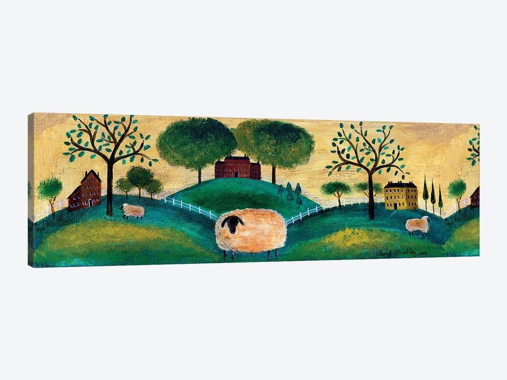 Counyrt Folk Art Sheep Farm Border by Cheryl Bartley 1-piece Canvas Print