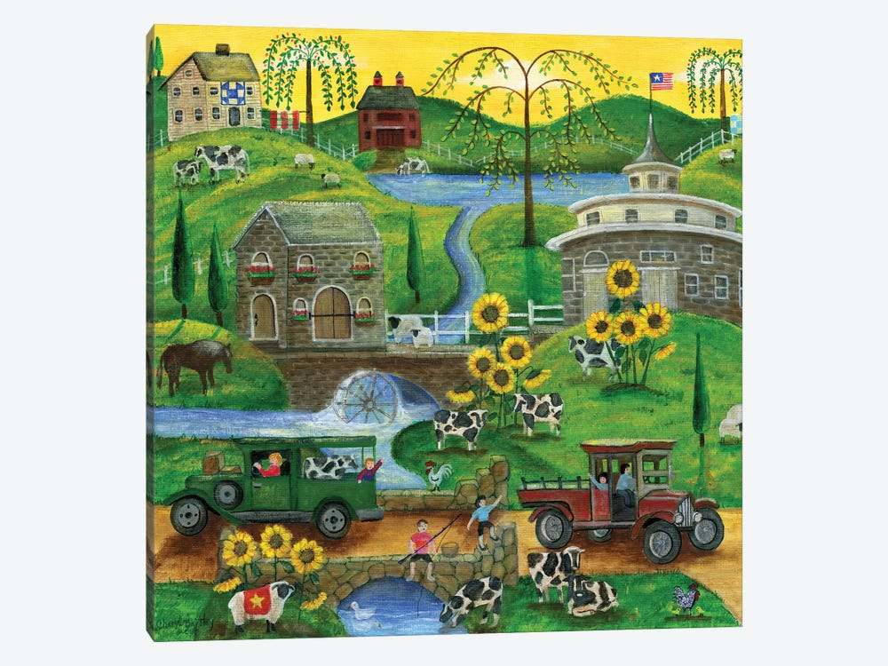 Cows May Come And Cows My Go by Cheryl Bartley 1-piece Canvas Artwork