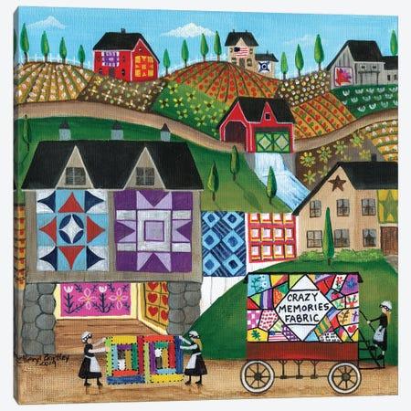 Crazy Memories Quilt Village Canvas Print #CBT84} by Cheryl Bartley Canvas Art Print