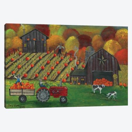 Early Morning Pumpkin Harvest Canvas Print #CBT88} by Cheryl Bartley Canvas Artwork