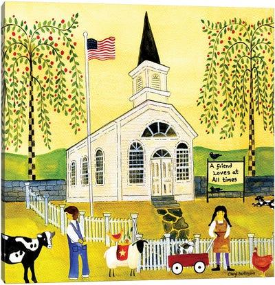 A Friend Loves At All Times Church Canvas Art Print