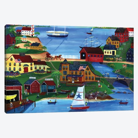 Fishermans Cove Canvas Print #CBT93} by Cheryl Bartley Canvas Print