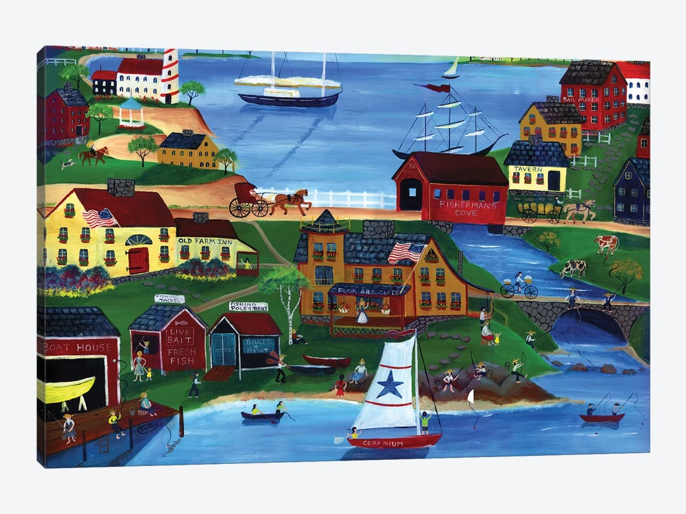 Fishermans Cove by Cheryl Bartley 1-piece Canvas Art Print