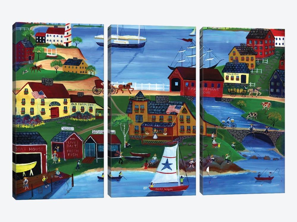 Fishermans Cove by Cheryl Bartley 3-piece Art Print