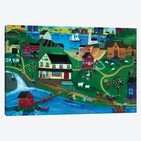 Fishermans Inn Canvas Print #CBT94} by Cheryl Bartley Canvas Wall Art