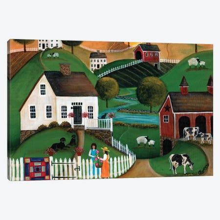 Flower Lady Dairy Farm Cheryl Bartley Canvas Print #CBT95} by Cheryl Bartley Canvas Art