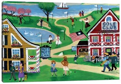 Folk Art Golf Putt Putt Inn Canvas Art Print