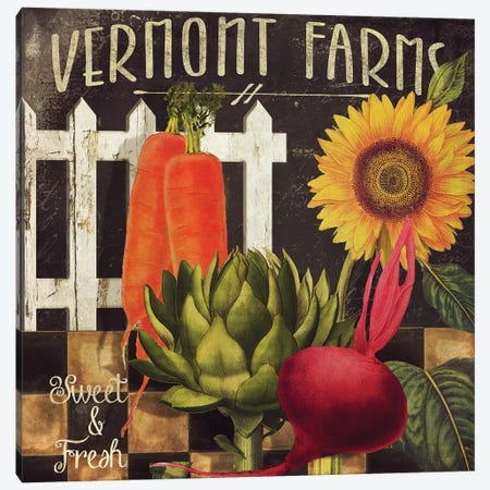 Vermont Farms VIII Canvas Print #CBY1003} by Color Bakery Canvas Print