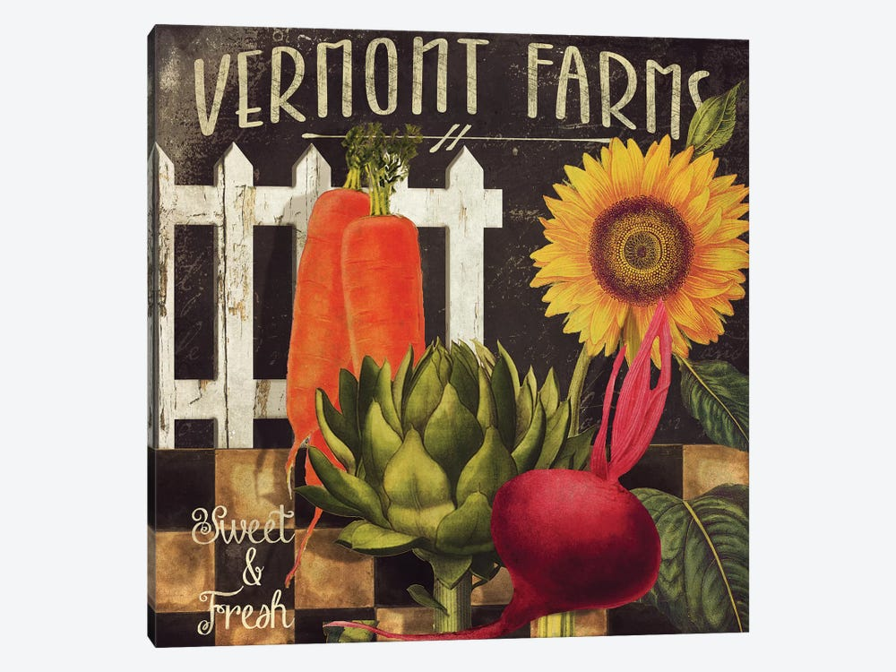 Vermont Farms VIII by Color Bakery 1-piece Canvas Artwork