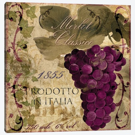 Vino Italiano I Canvas Print #CBY1030} by Color Bakery Canvas Wall Art