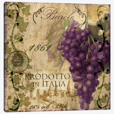 Vino Italiano II Canvas Print #CBY1031} by Color Bakery Canvas Art