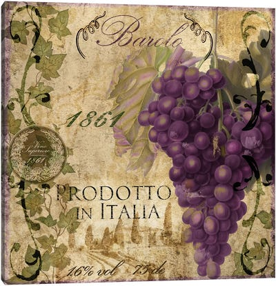 Vino Italiano II Canvas Art Print