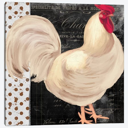 White Rooster Café I Canvas Print #CBY1054} by Color Bakery Canvas Art Print