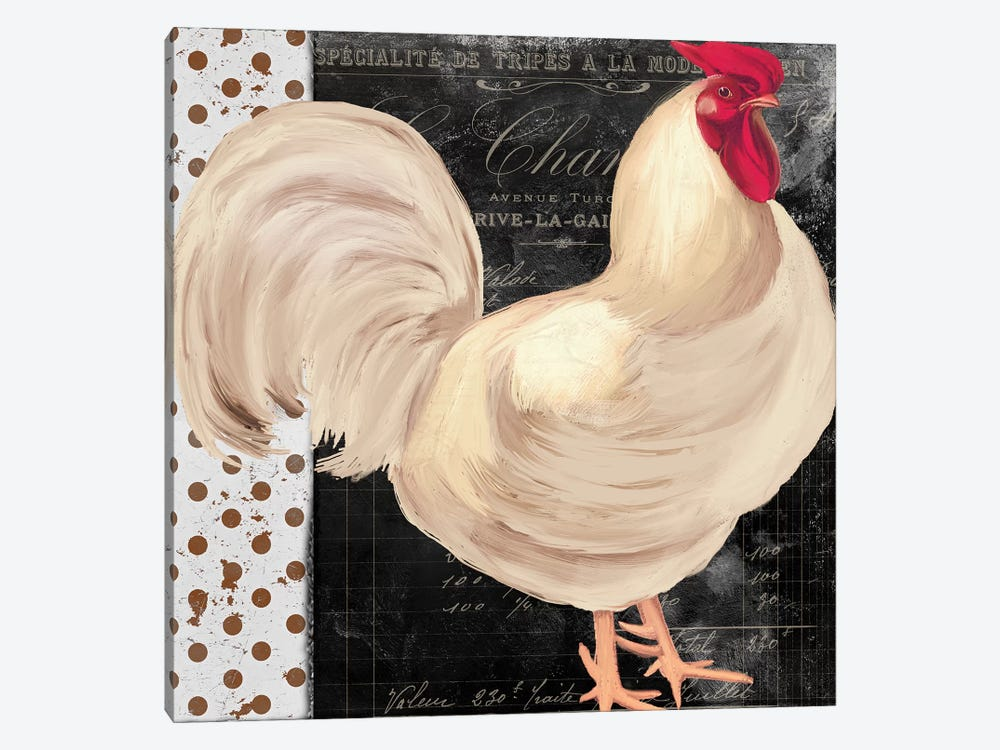 White Rooster Café I by Color Bakery 1-piece Canvas Art