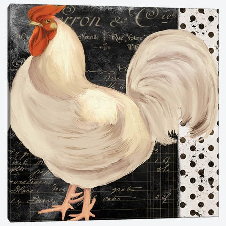 White Rooster Café II Canvas Print #CBY1055} by Color Bakery Canvas Print