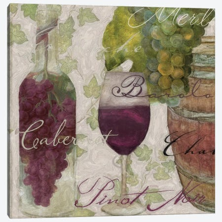 Wine Cellar I Canvas Print #CBY1067} by Color Bakery Canvas Wall Art