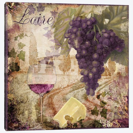 Wine Country II Canvas Print #CBY1070} by Color Bakery Canvas Art