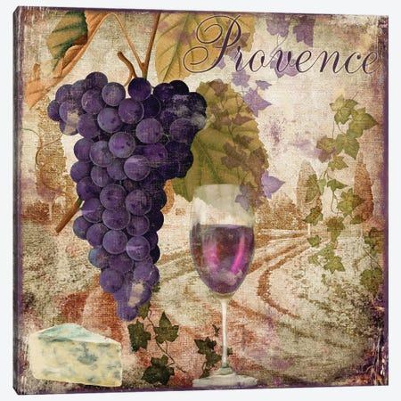 Wine Country III Canvas Print #CBY1071} by Color Bakery Canvas Artwork