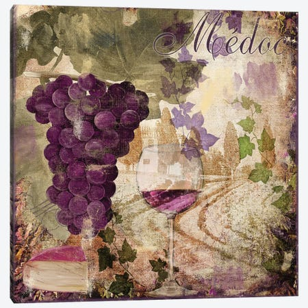 Wine Country IV Canvas Print #CBY1072} by Color Bakery Canvas Wall Art