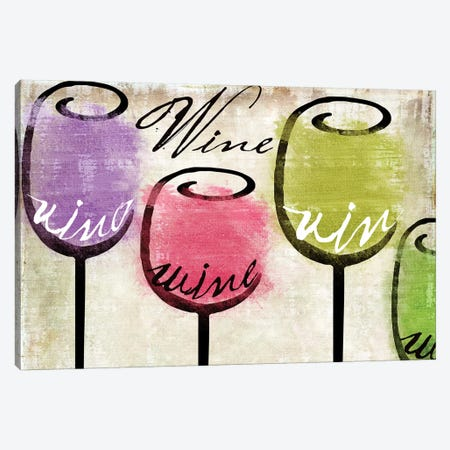 Wine Tasting III Canvas Print #CBY1077} by Color Bakery Art Print