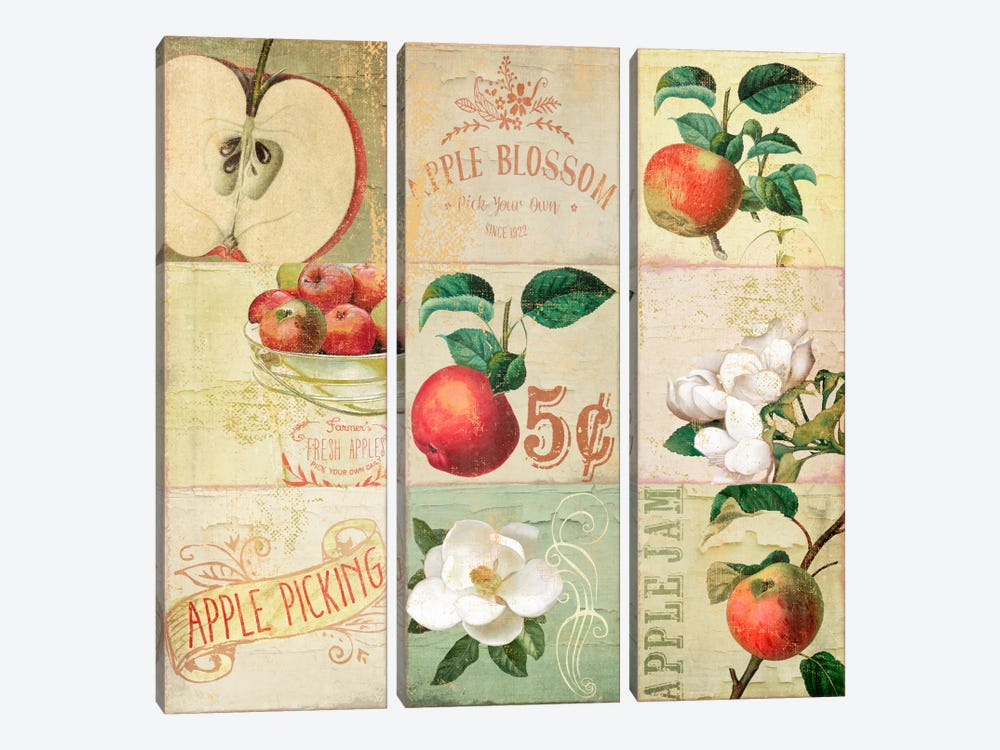 Apple Blossoms IV by Color Bakery 3-piece Canvas Artwork