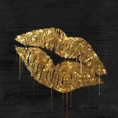 Golden Lips Canvas Print By Color Bakery Icanvas