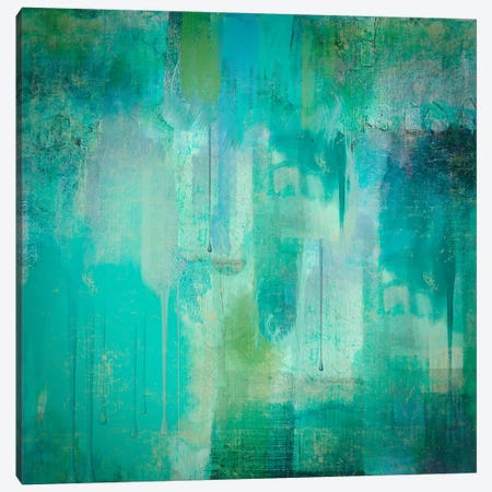 Aqua Circumstance I Canvas Print #CBY111} by Color Bakery Canvas Wall Art